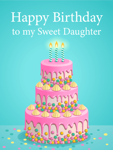 Happy Birthday Cake Cards Greeting By Davia
