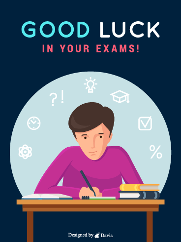 Examination  – Good Luck Cards