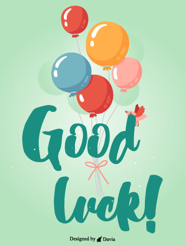 Balloons  – Good Luck Cards