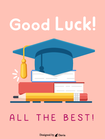 Sitting For The Exam   – Good Luck Cards