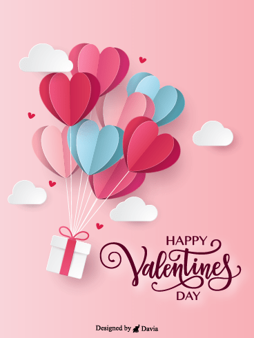 Balloon Hearts  – Valentine's Day Cards