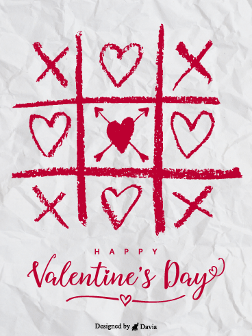 Tic-Tac-Toe  – Valentine's Day Cards