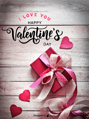 Lovely Gift  – Valentine's Day Cards