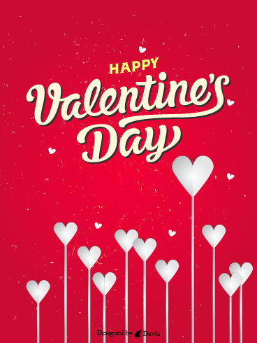 White Hearts  – Valentine's Day Cards
