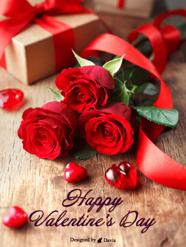 Three Roses  – Valentine's Day Cards