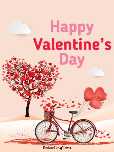 Bicycle  – Valentine's Day Cards