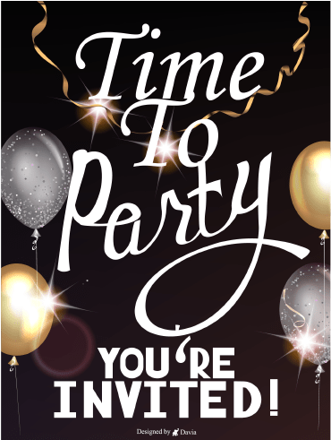 Let's Party - Invitation