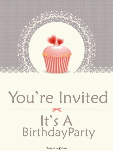 Cupcake Party - Invitation