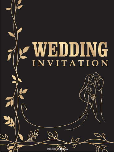 Black & Gold - Invitation