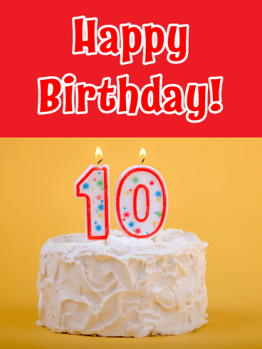 Double Digits- Happy Birthday Card for Age 10