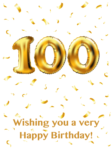 All Gold Everything- Happy 100th Birthday Card