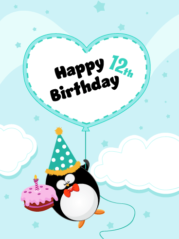 Celebration Penguin – Happy 12th Birthday