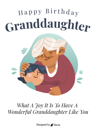 Grandmother's Love - Happy Birthday Granddaughter