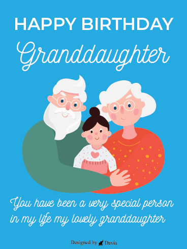 Grandparents' Love - Happy Birthday Granddaughter