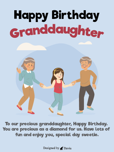 Fun Grandparents - Happy Birthday Granddaughter