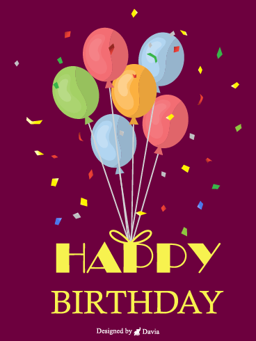 Balloon Birthday  – HB Newly Added Cards