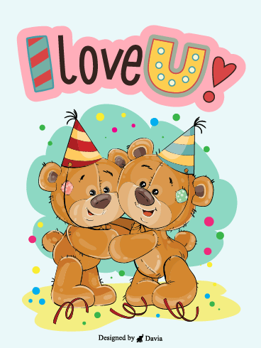 Beary Love  – I Love You Cards