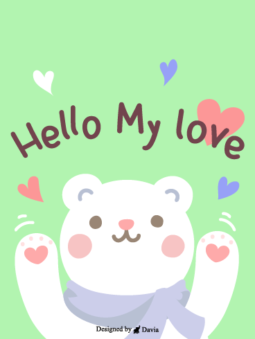 Hello Love  – I Love You Cards