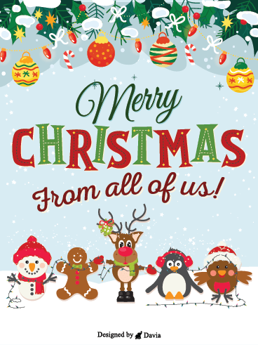 Cuties Say Merry Christmas! – Christmas Cards
