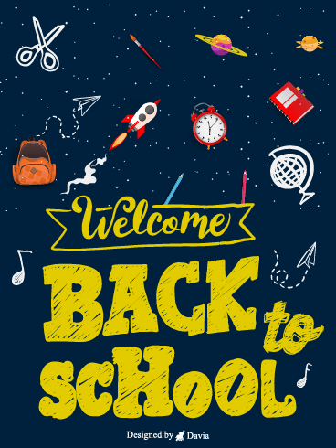 Space Galaxy – Back to School Space Cards