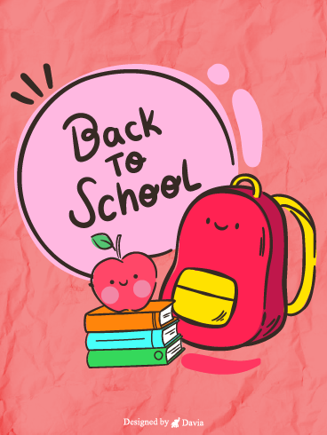 School bag – Back to School  Cards