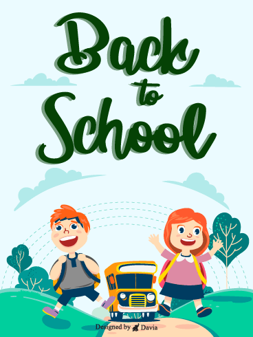 New School Year– Back to School Cards