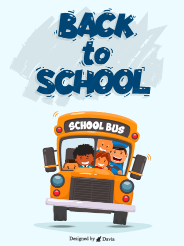 School bus– Back to School Cards