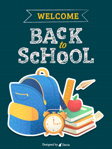 New bag New Books– Back to School Cards