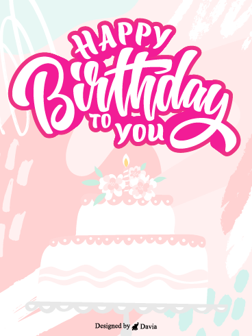 Pink Birthday Cake – HB Newly Added Cards