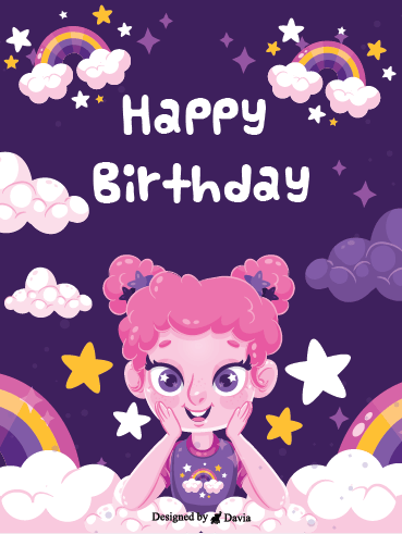 Happy Girl – Happy Birthday Newly Added Cards