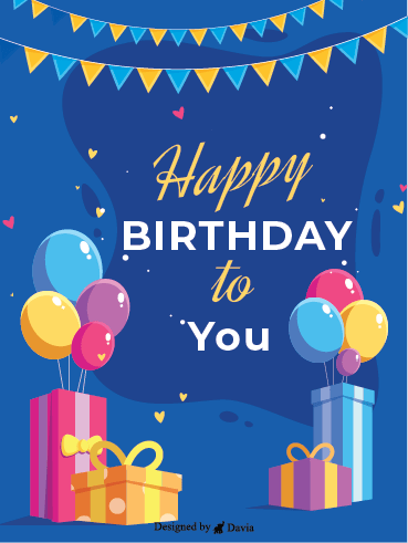 Classic Happy Birthday – Happy Birthday Newly Added Cards