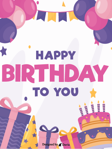 Purple & Pink – Happy Birthday Newly Added Cards