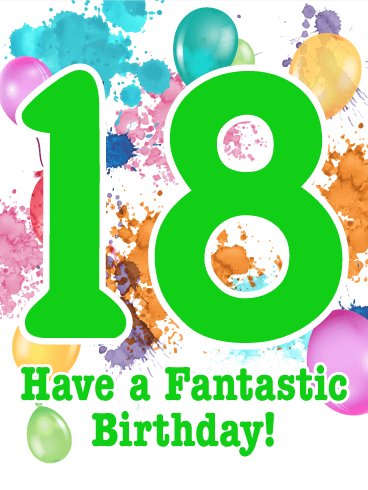 18th birthday card birthday greeting cards by davia 18th birthday card bookmarktalkfo Images