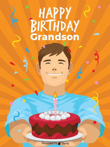 Happy Face - Happy Birthday Grandson