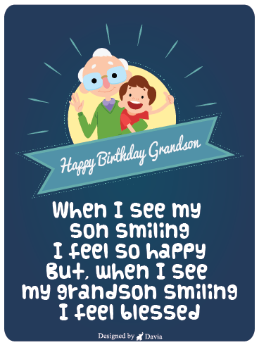 Blessed Grandson - Happy Birthday Grandson