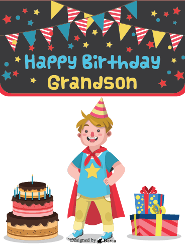 Super Grandson - Happy Birthday Grandson