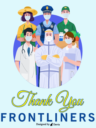 Essential Team  – Thank you Frontliners Cards