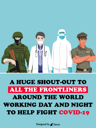 Shout Out To The Frontliners  – Thank you Frontliners Cards
