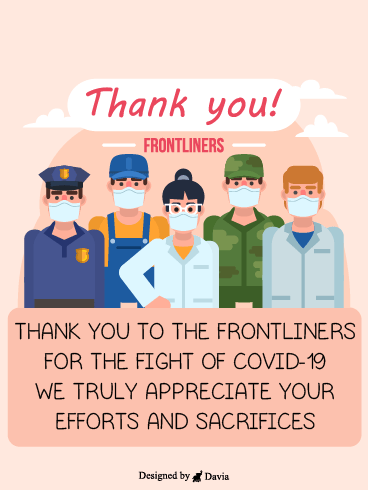 Efforts & Sacrifices  – Thank you Frontliners Cards
