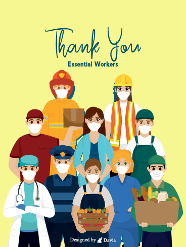 Essential Workers – Thank you Frontliners Cards