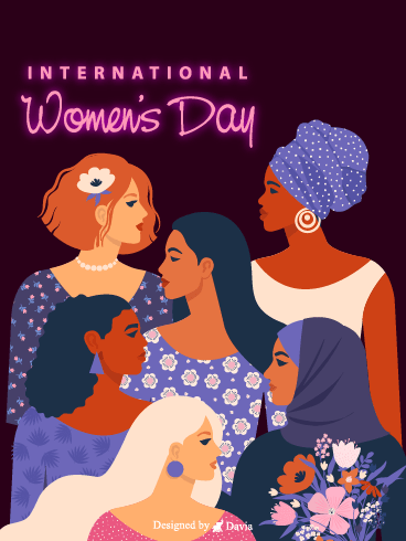 Multi Racial  – International Women's Day Cards