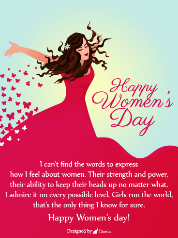 Red Dress  – International Women's Day Cards