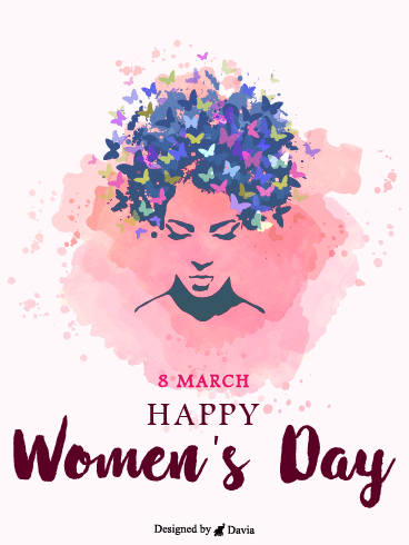 Butterflies  – International Women's Day Cards