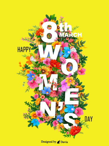 Flowers  – International Women's Day Cards