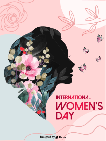 Silhouette– International Women's Day Cards