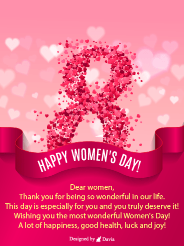 8 of March – International Women's Day Cards