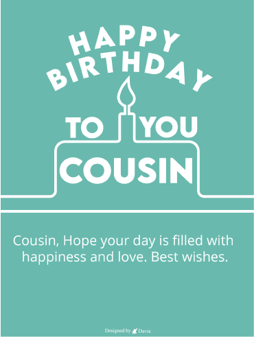Happy Cousin – Happy Birthday Cousin