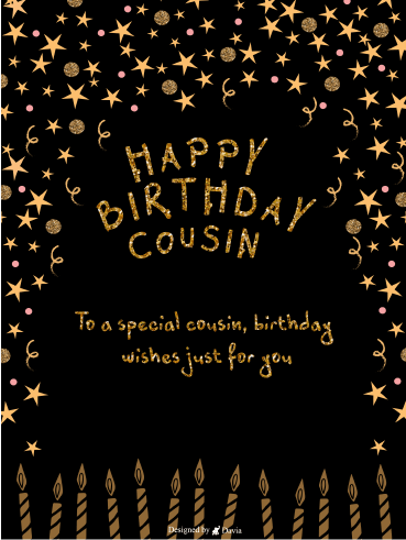 Golden Cousin  – Happy Birthday Cousin