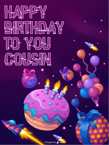 Cake In Space – Happy Birthday Cousin