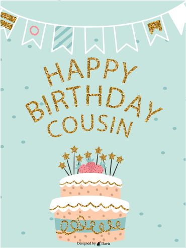 Cake and Stars  – Happy Birthday Cousin